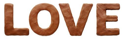 Amour effectué à partir de la pâte à modeler Photo stock