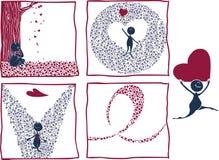 Amour effectué par des amoureux Photo libre de droits