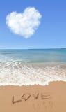 Amour en été à la plage Photo stock