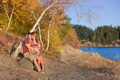 Amour en automne Photographie stock