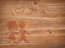 Amour en bois Photos stock