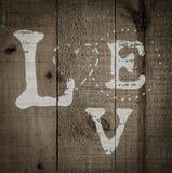Amour en bois Images libres de droits