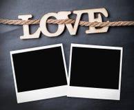 Amour en bois découpé de lettres Photographie stock