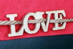 Amour en bois découpé de lettres Image stock