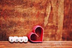 Amour en bois de forme de coeur de fond Image libre de droits