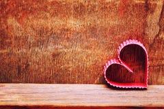 Amour en bois de forme de coeur de fond Photos stock