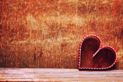 Amour en bois de forme de coeur de fond Photographie stock libre de droits