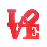 Amour en bois de lettres de vintage d'isolement Images libres de droits