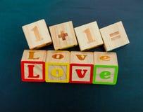amour en bois de mot Photos libres de droits
