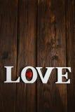 amour en bois de mot Photographie stock libre de droits