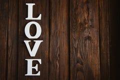 amour en bois de mot Images libres de droits