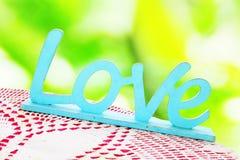 Amour en bois de mot dans le style de vintage Photographie stock libre de droits
