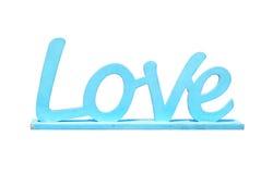 Amour en bois de mot dans le style de vintage Images stock