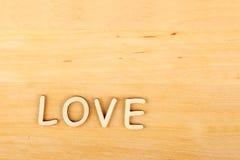 Amour en bois des textes Images libres de droits