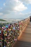 Amour en Corée Photographie stock libre de droits