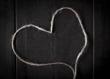Amour en ficelle de chanvre Photo stock