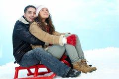 Amour en hiver Photographie stock