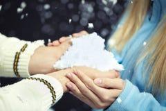 Amour en hiver Images libres de droits