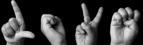 Amour en langage de signe Photographie stock libre de droits