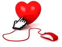 Amour en ligne Photographie stock