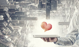 amour en ligne Images libres de droits