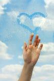 Amour en nuages Photo libre de droits