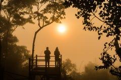 Amour en silhouette Image libre de droits