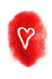 Amour en sucre rouge Image stock