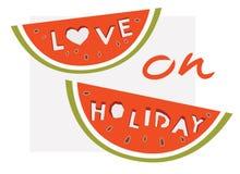 Amour en vacances Photographie stock libre de droits