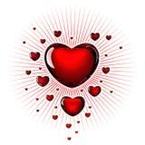 Amour en verre Photos libres de droits