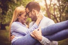 Amour entre l'homme et la femme Images stock