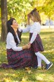 Amour entre la mère et la fille Image libre de droits