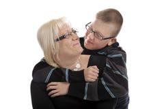Amour entre la mère et le fils Photographie stock libre de droits