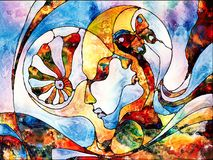 Amour entre les mondes Photos libres de droits