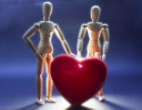 Amour et êtres d'autres mondes Image libre de droits