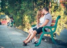 Amour et affection entre un couple Photographie stock