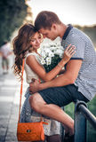 Amour et affection entre un couple Images libres de droits