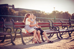 Amour et affection entre un couple Image libre de droits