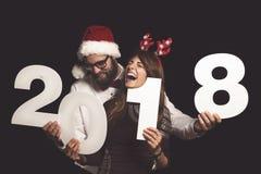 Amour et amusement sur le ` s Ève de nouvelle année Photo stock