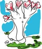 Amour et arbre de l'amour illustration stock