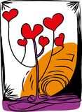 Amour et arbre de l'amour Photographie stock