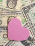 Amour et argent Photos libres de droits