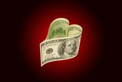Amour et argent Photographie stock