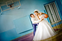 Amour et basket-ball Photos stock