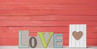 Amour et cadre de Word Photos stock