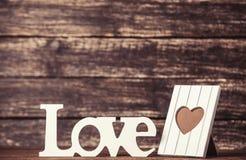 Amour et cadre de Word pour la photo Photo stock