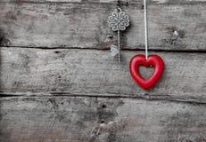 Amour et clé Photo libre de droits
