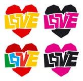 Amour et coeur Images stock