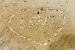 Amour et coeur Image stock