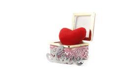 Amour et coeur dans une boîte Images stock